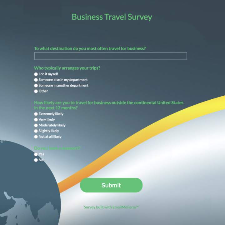 Beautiful Online Form Samples & Survey Examples - Emailmeform