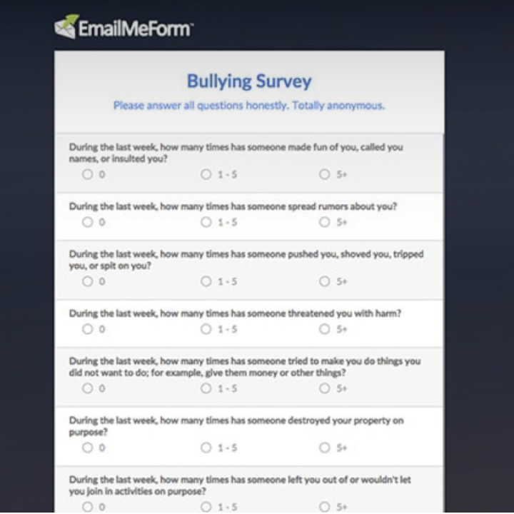Beautiful Online Form Samples  Survey Examples  Emailmeform