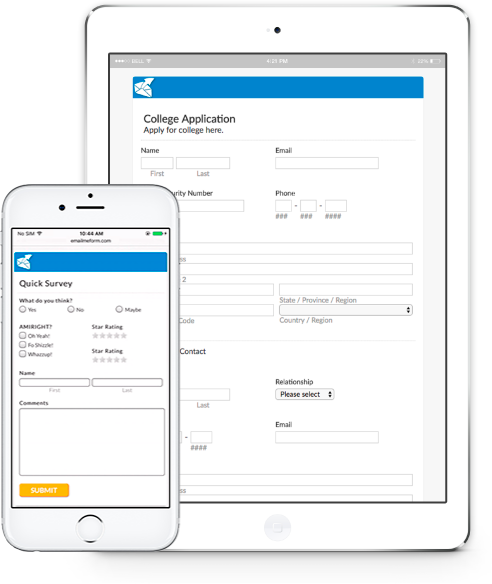Free Online Form Builder  Surveys and Contact Forms