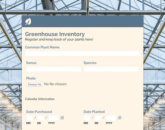 Inventory Template Form  Free Survey Templates