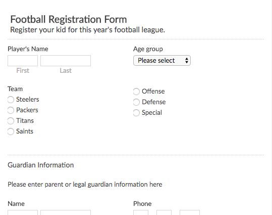 Free Online Form And Survey Templates Emailmeform