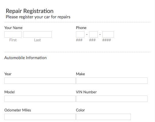 Repair Request Form