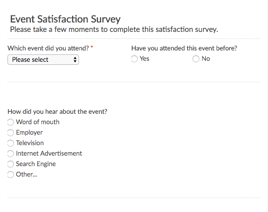 Short Survey Template Gallery Template Design Ideas