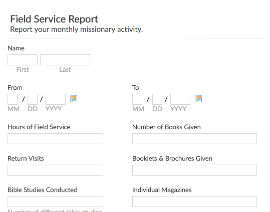 missionary service report previewuse template