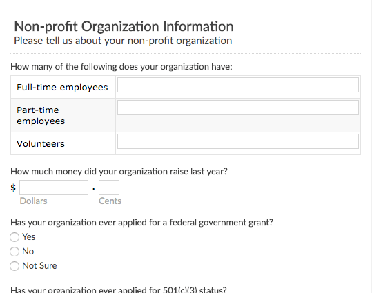 Free online form and survey templates emailmeform nonprofit organization survey thecheapjerseys Images